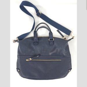 Moda Lux Blue Leather Shoulder Bag (B4)